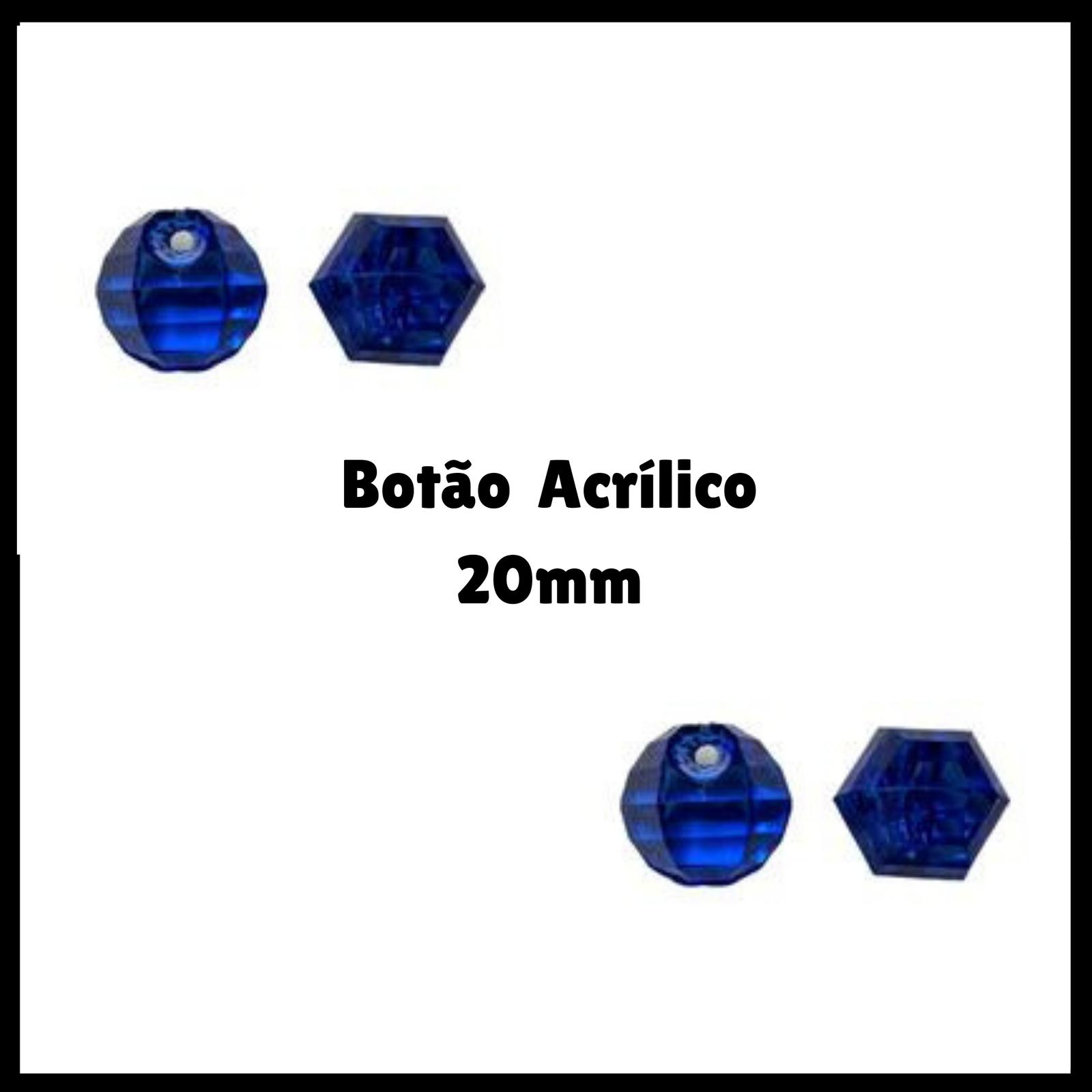 Conta Botão Acrílico 20mm - 500g