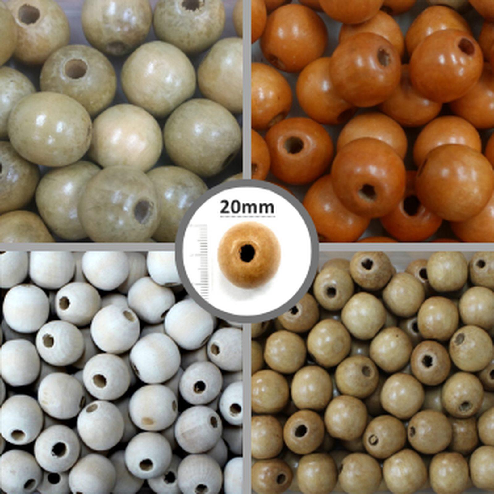Conta de Madeira 20mm AS3704 100 unidades