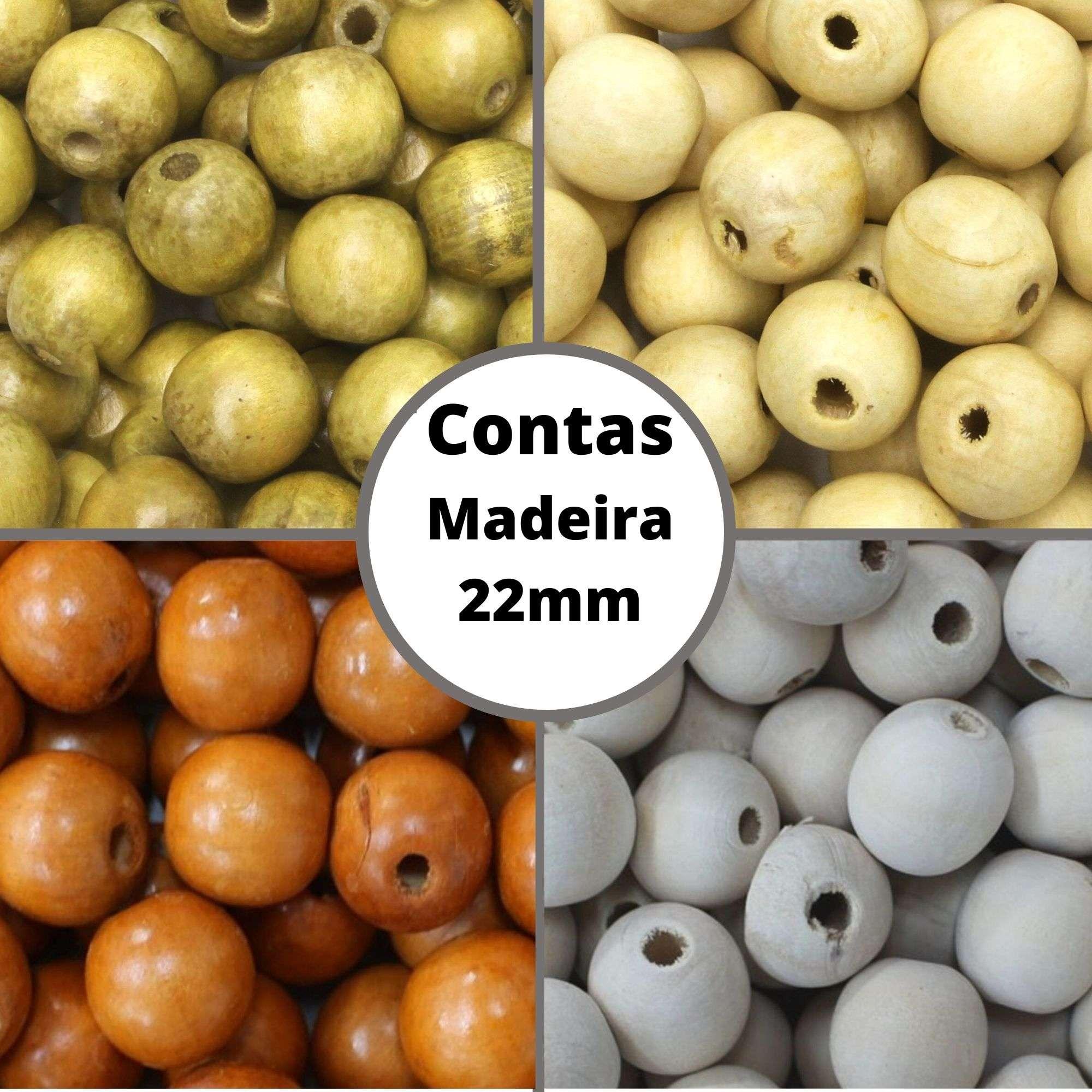 Conta de Madeira 22mm AS3705 100 unidades