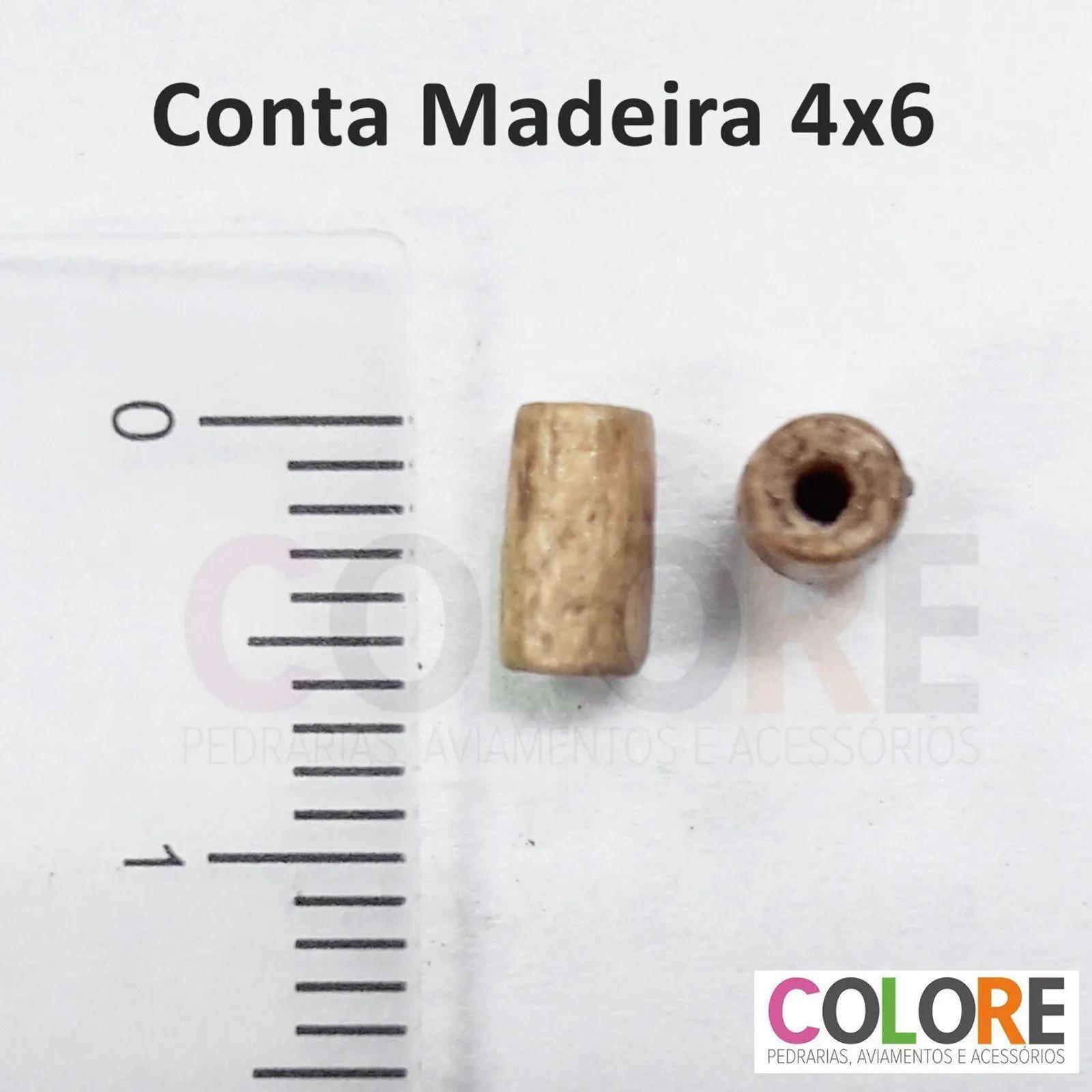 Conta de Madeira 04x6mm AS2842 5.000 unidades