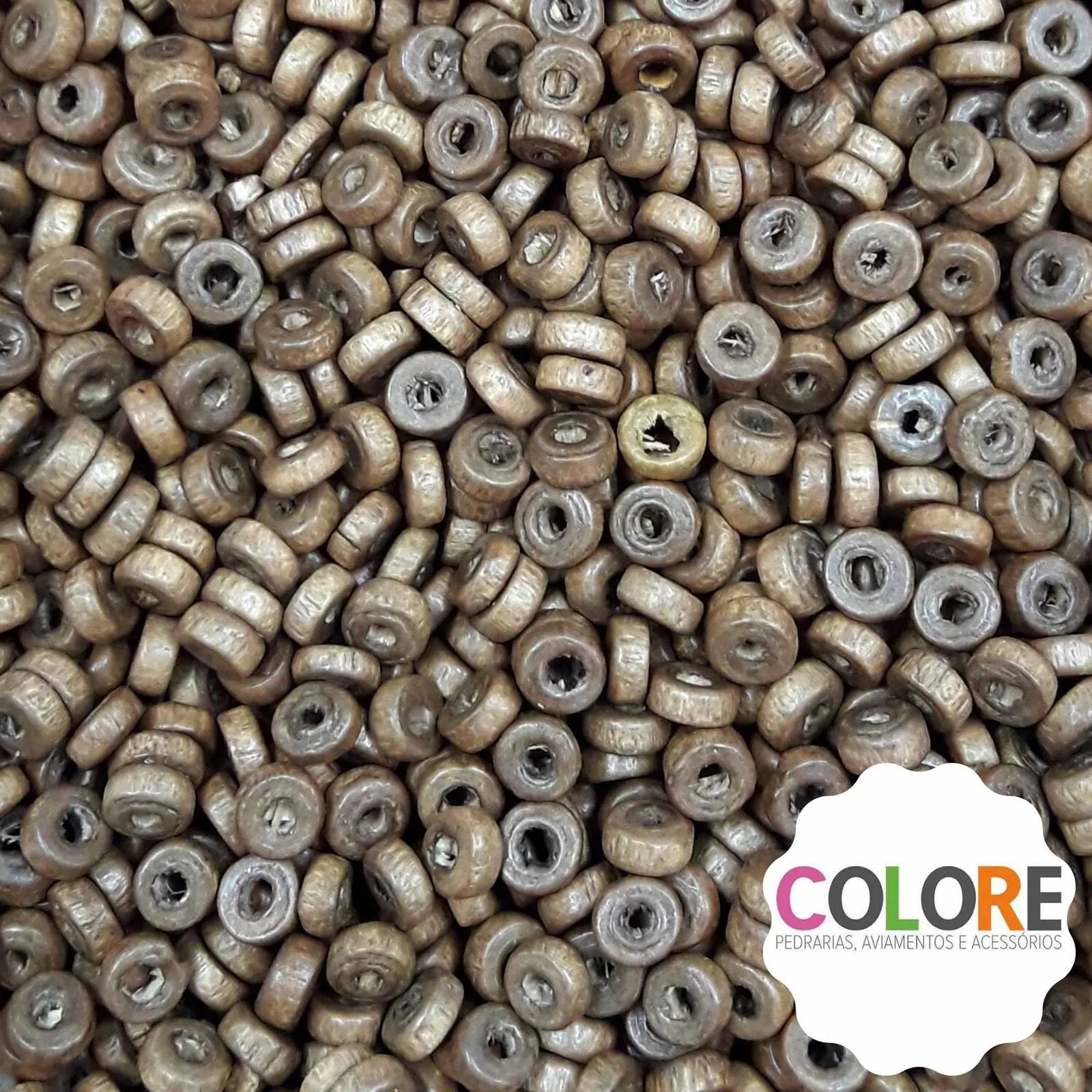 Conta de Madeira 05mm AS2845 10.000 unidades