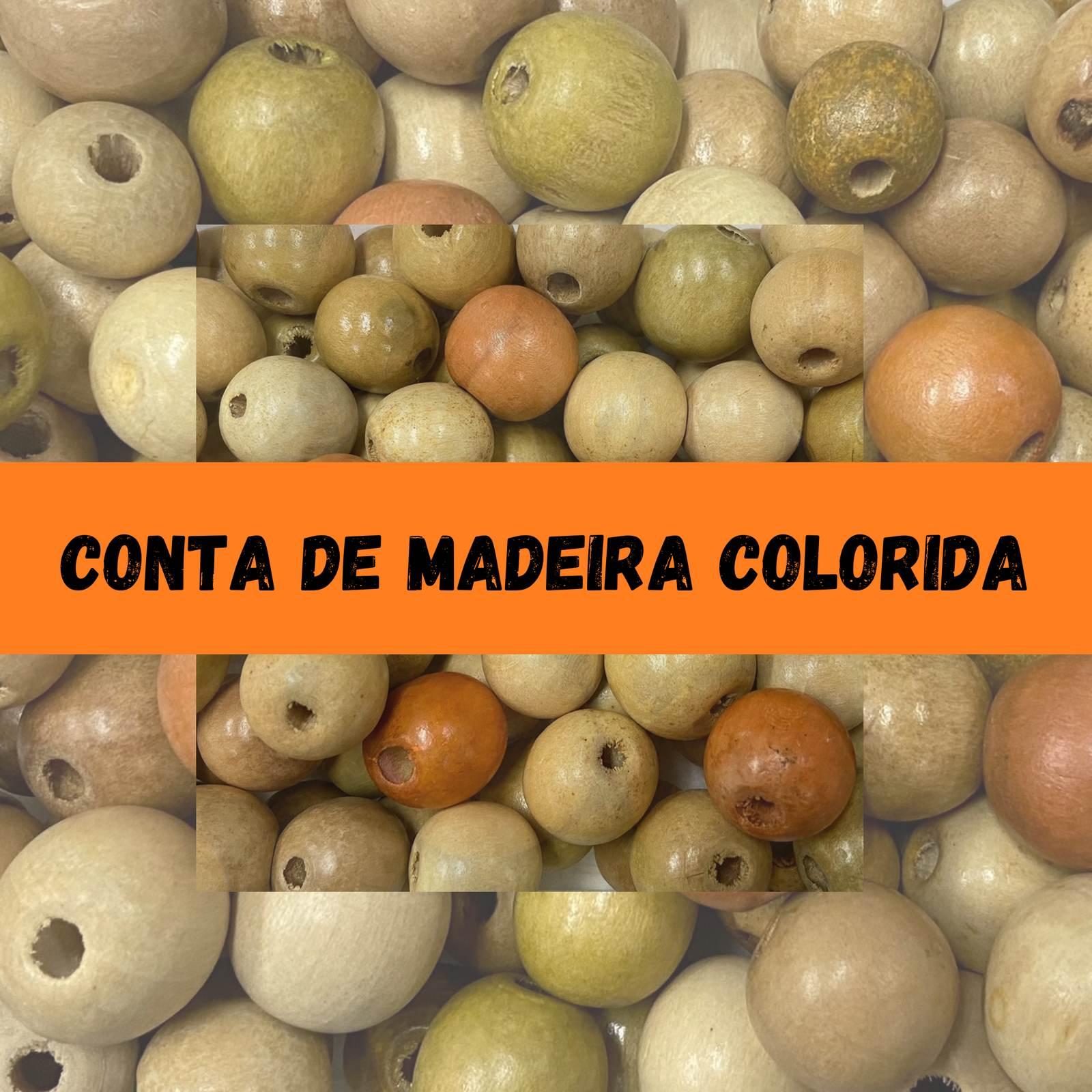 Conta de Madeira Colorida - 350 gramas