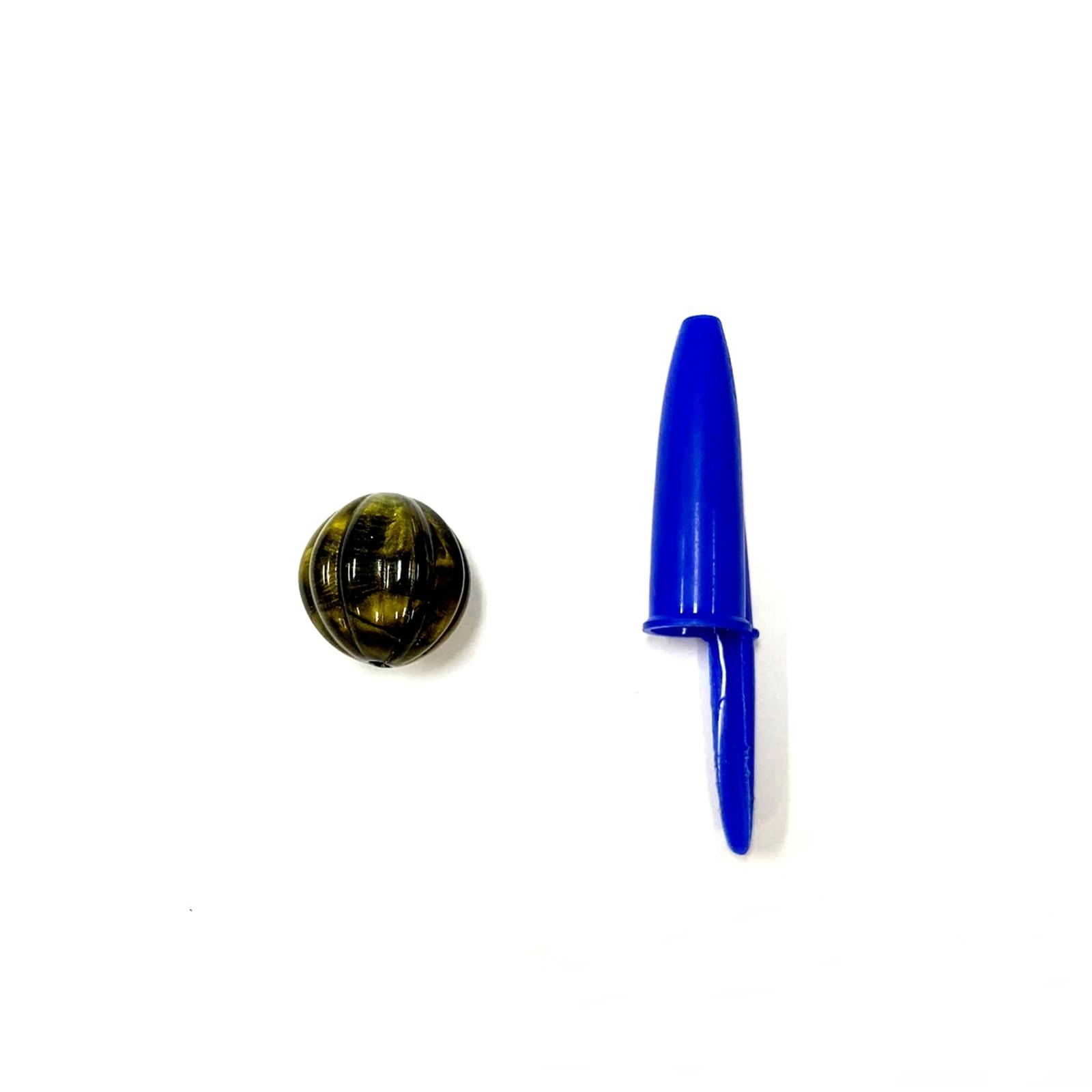 Conta de Resina Listrada 18mm - 500g