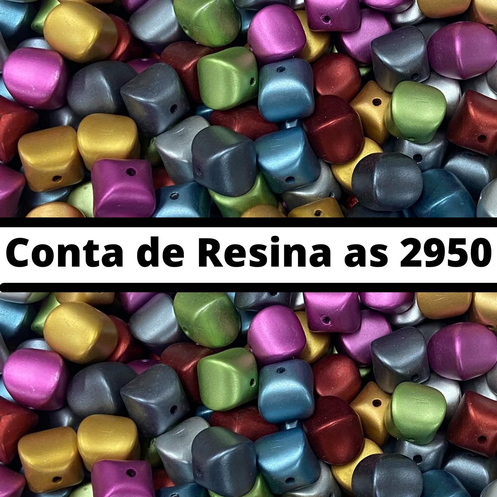 Conta de Resina Metalizada 11mm as2950 - 500g