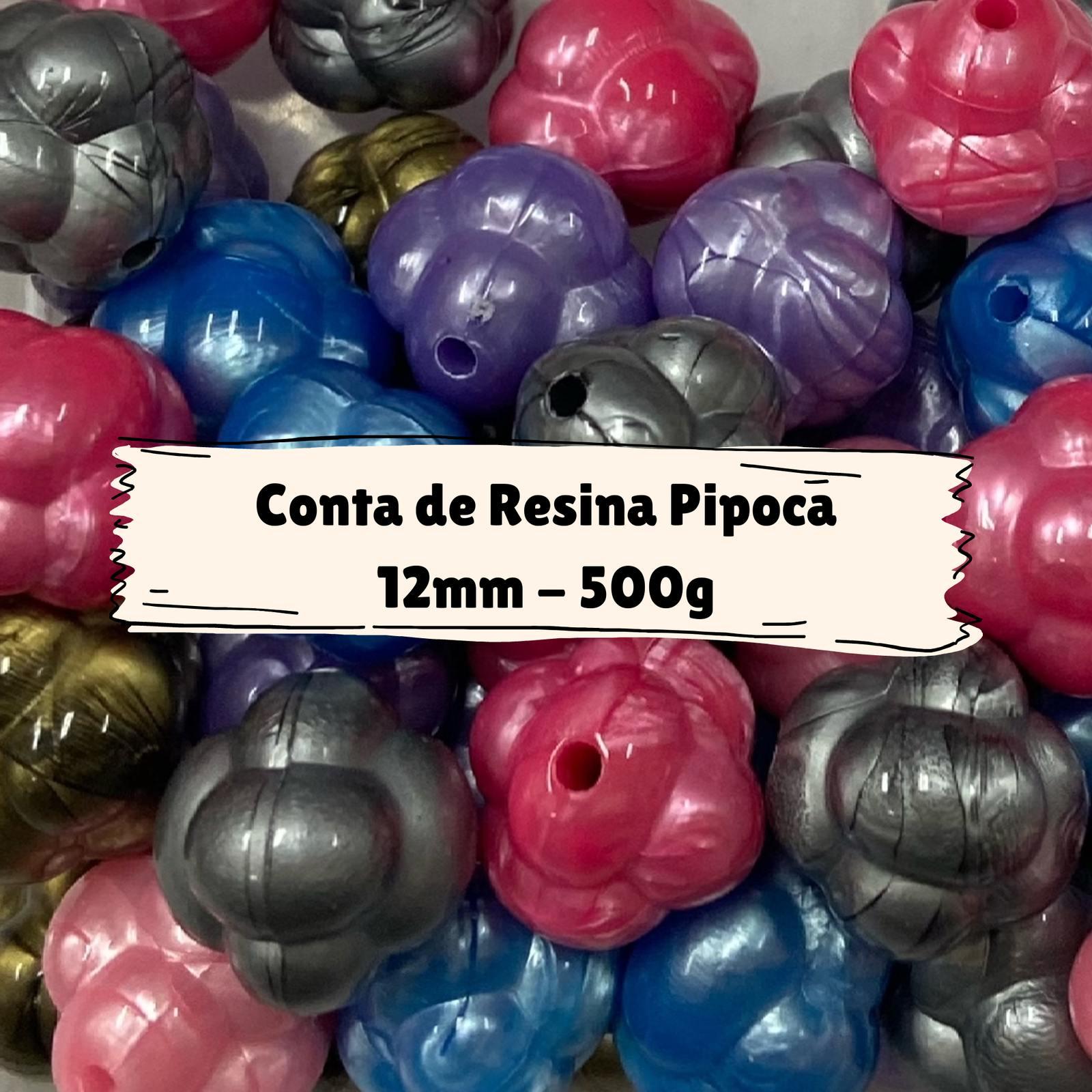Conta de Resina Pipoca 12mm - 500g