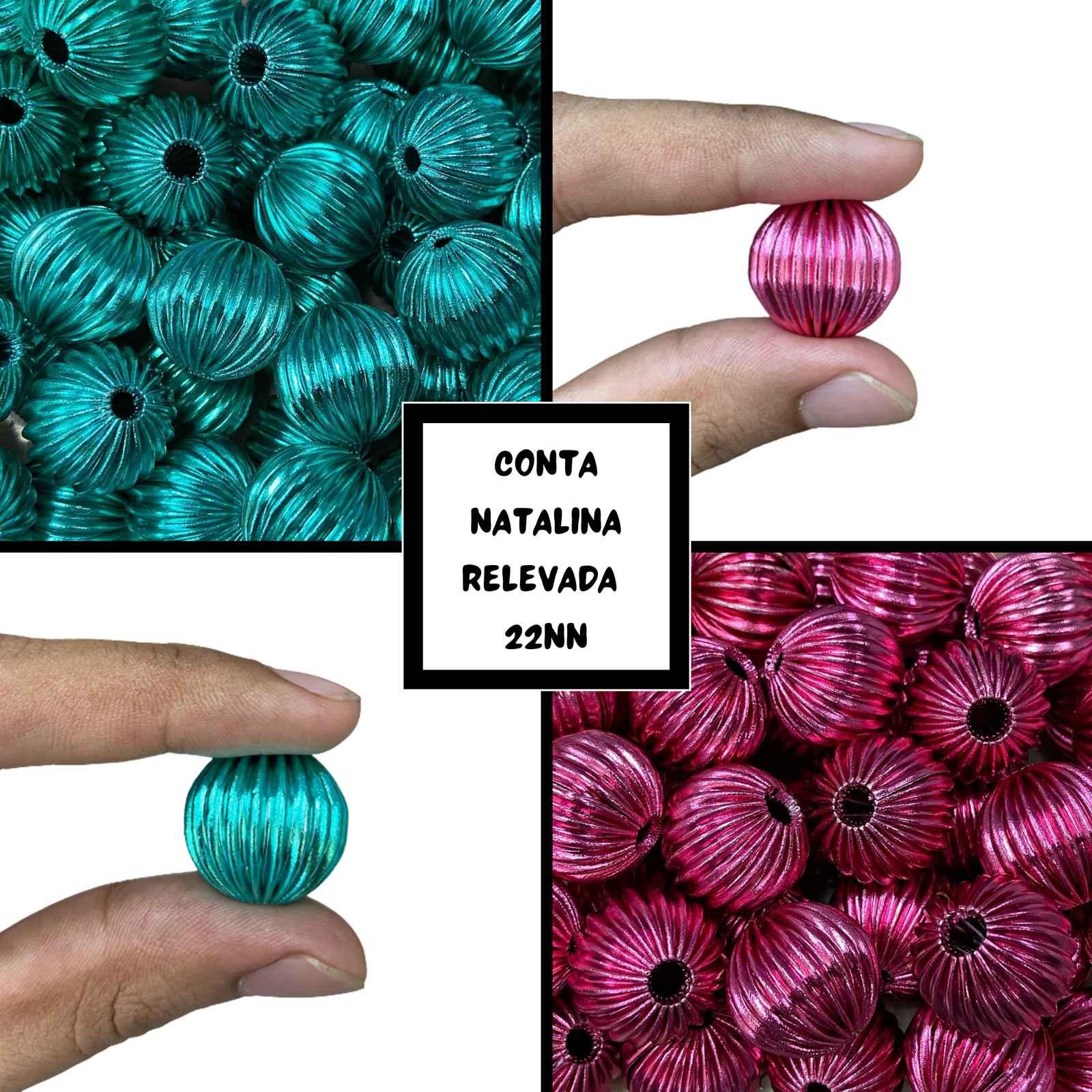 Conta Natalina Relevada 22mm - 10un
