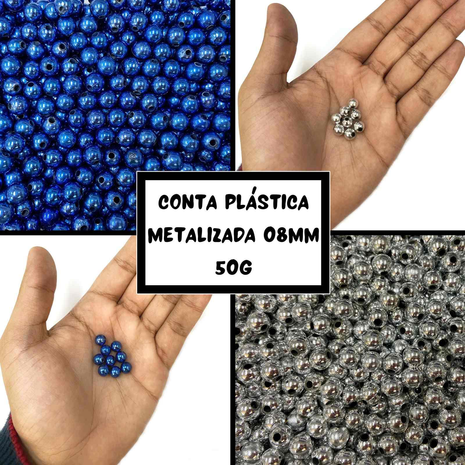 Conta Plástica Metalizada 08mm - 50g