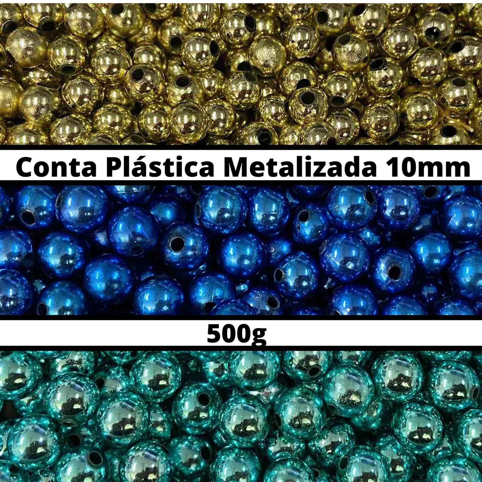 Conta Plástica Metalizada 10mm - 500g