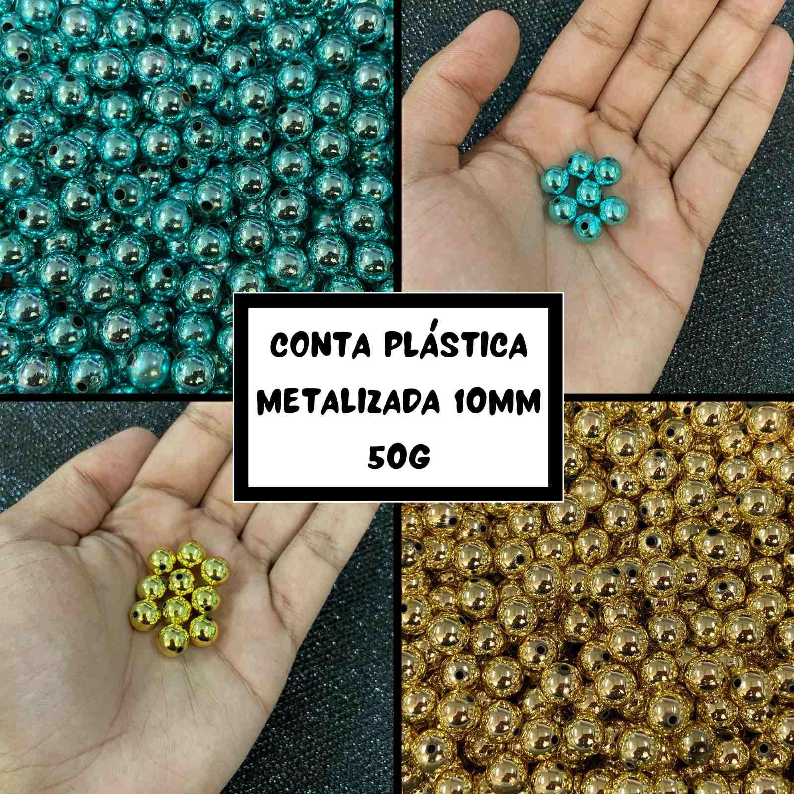 Conta Plástica Metalizada 10mm - 50g