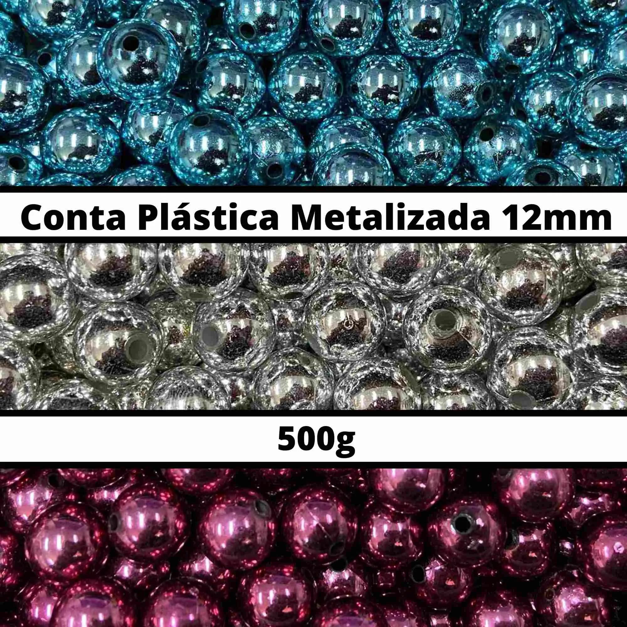 Conta Plástica Metalizada 12mm - 500g