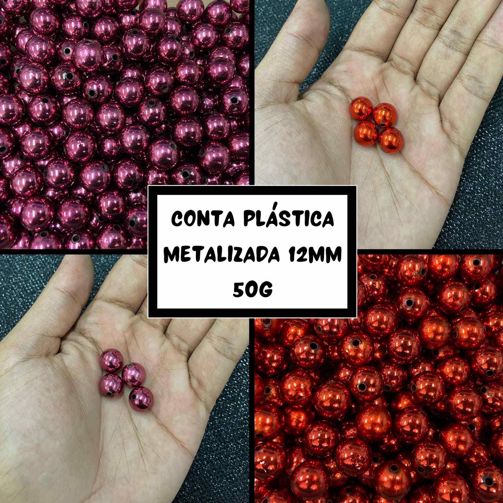 Conta Plástica Metalizada 12mm - 50g