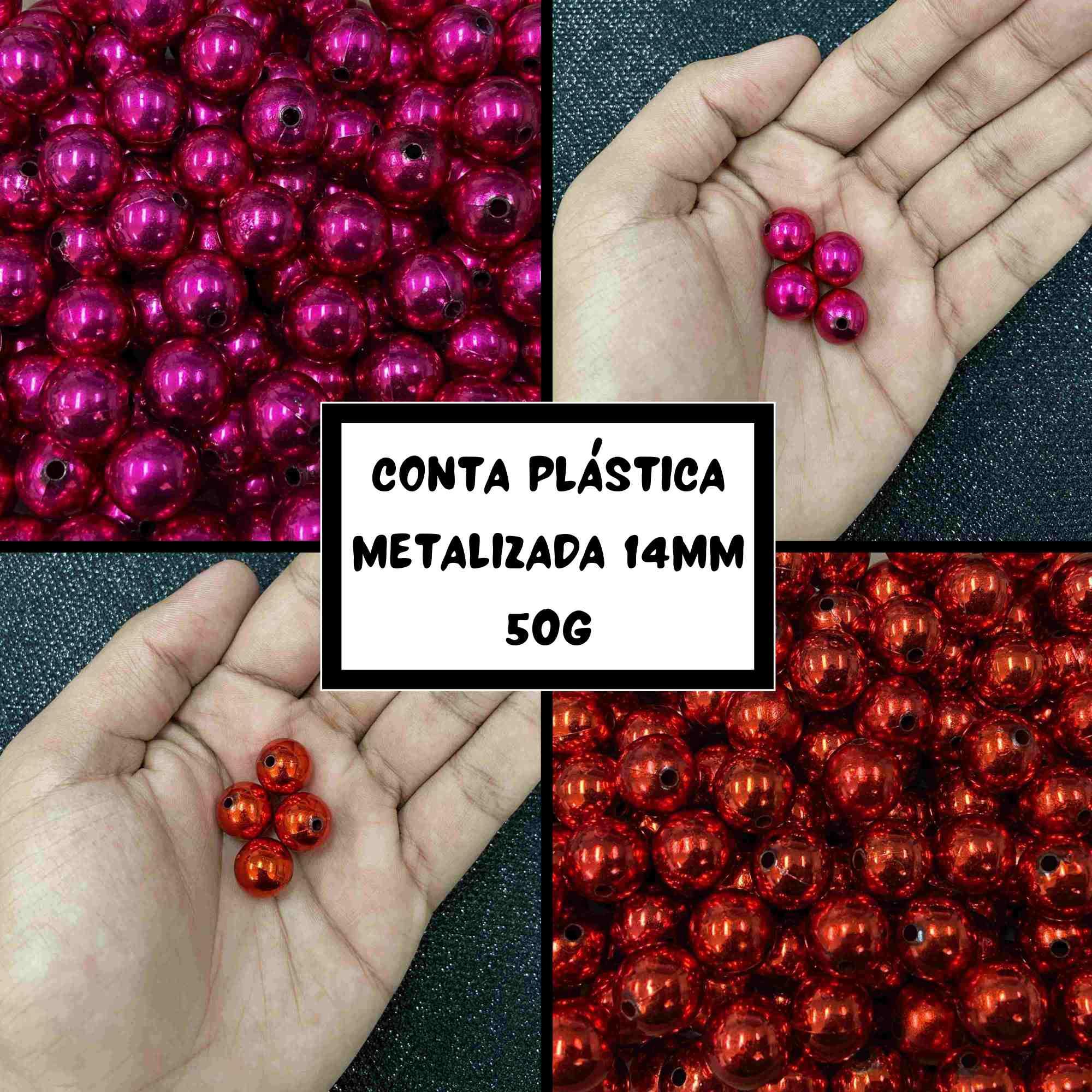 Conta Plástica Metalizada 14mm - 50g
