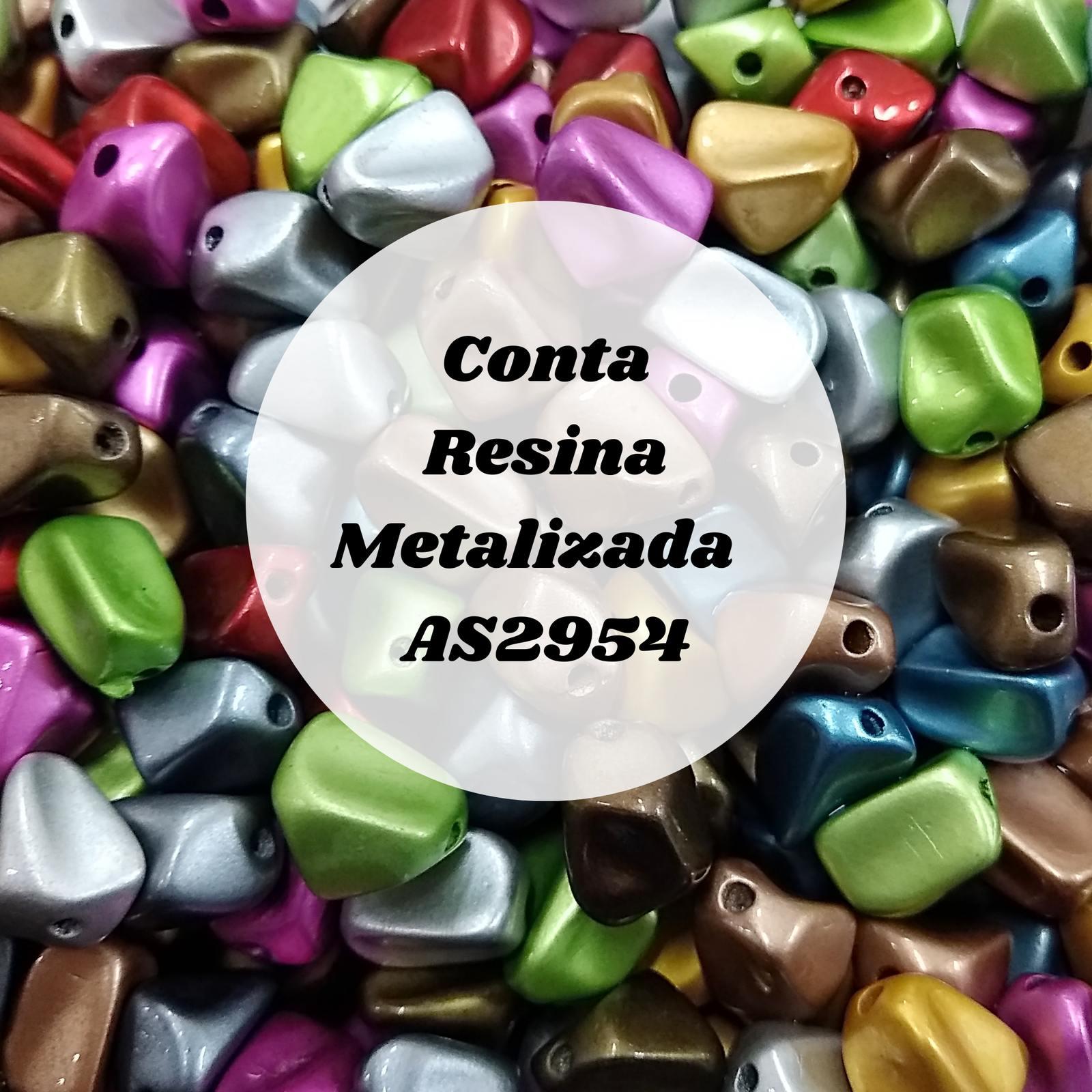 Conta Resina  AS2954 Metalizada 11mm