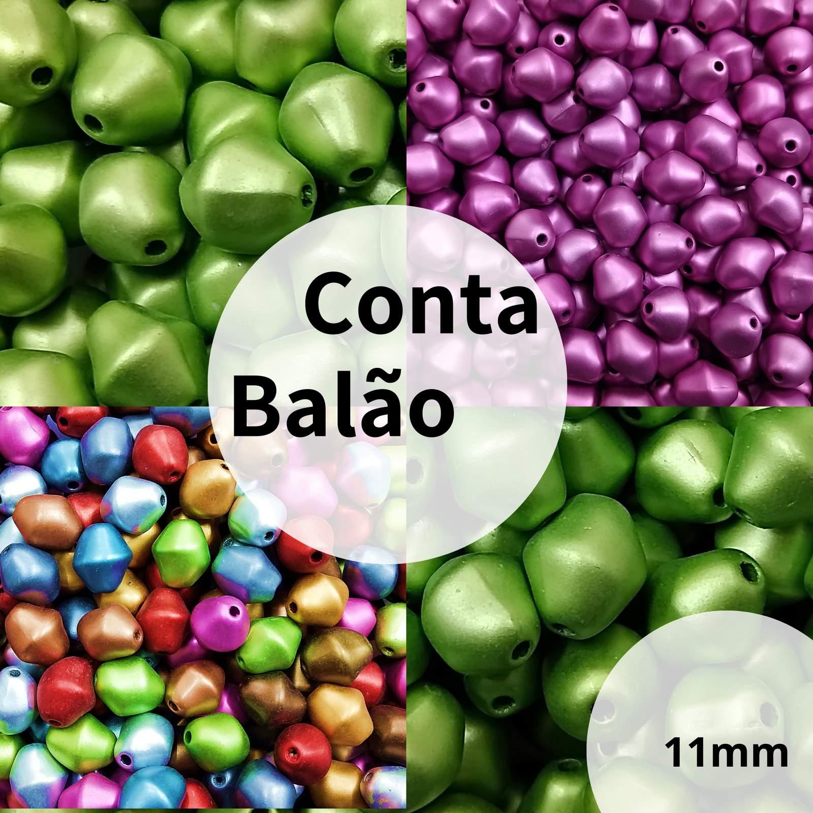 Conta Resina Balão Metalizada 11mm