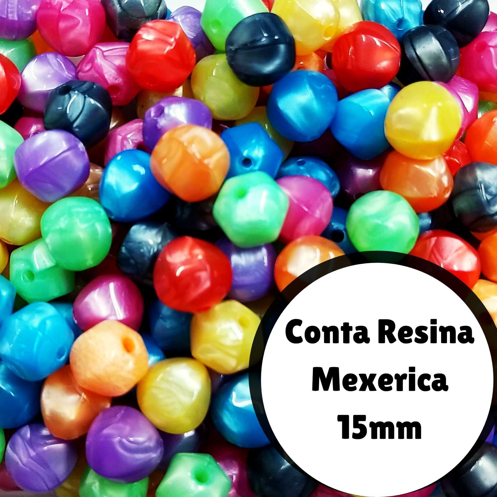 Conta Resina Mexirica Fosca 15mm c/500g