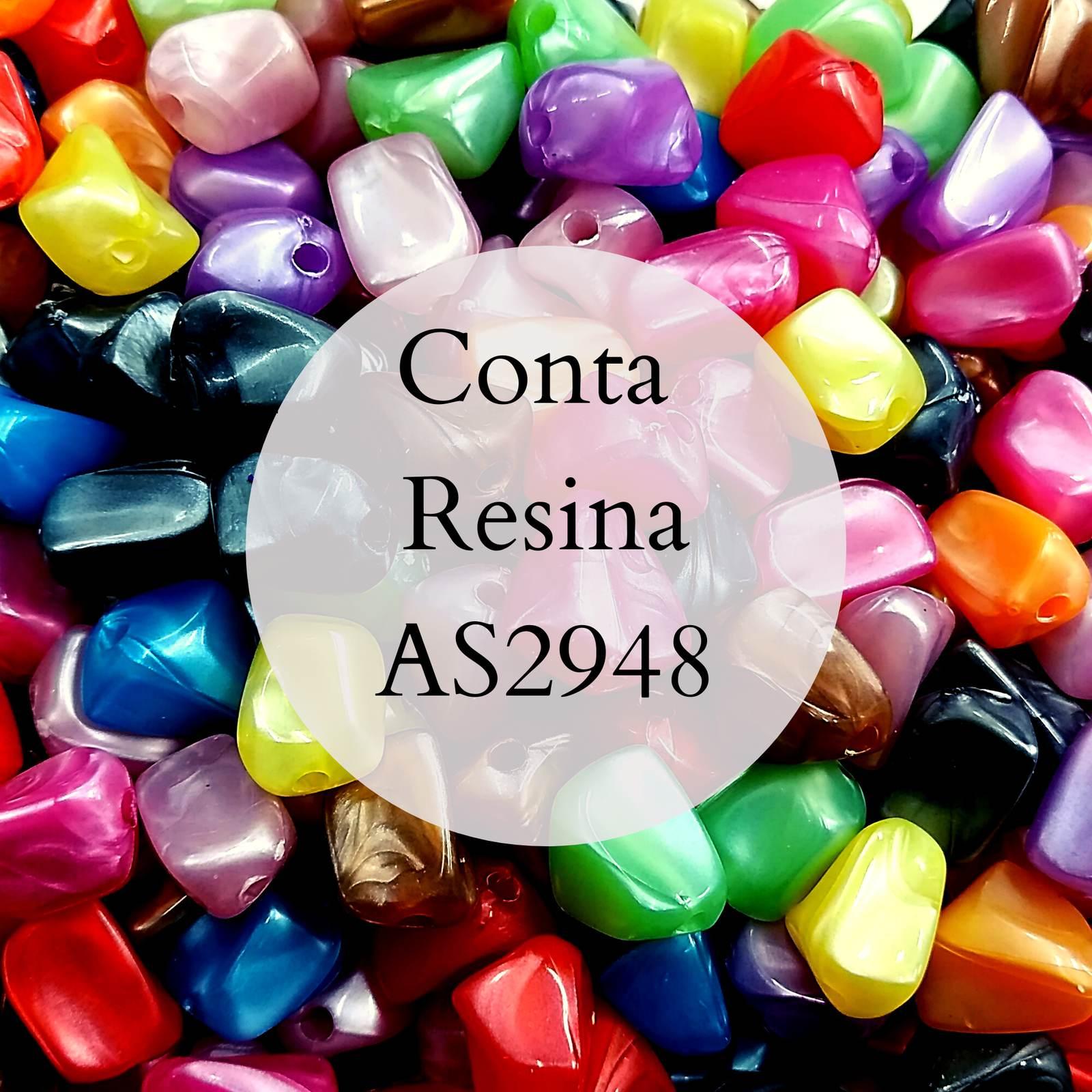 Conta Resina Perolada Leitosa 13mm AS2948