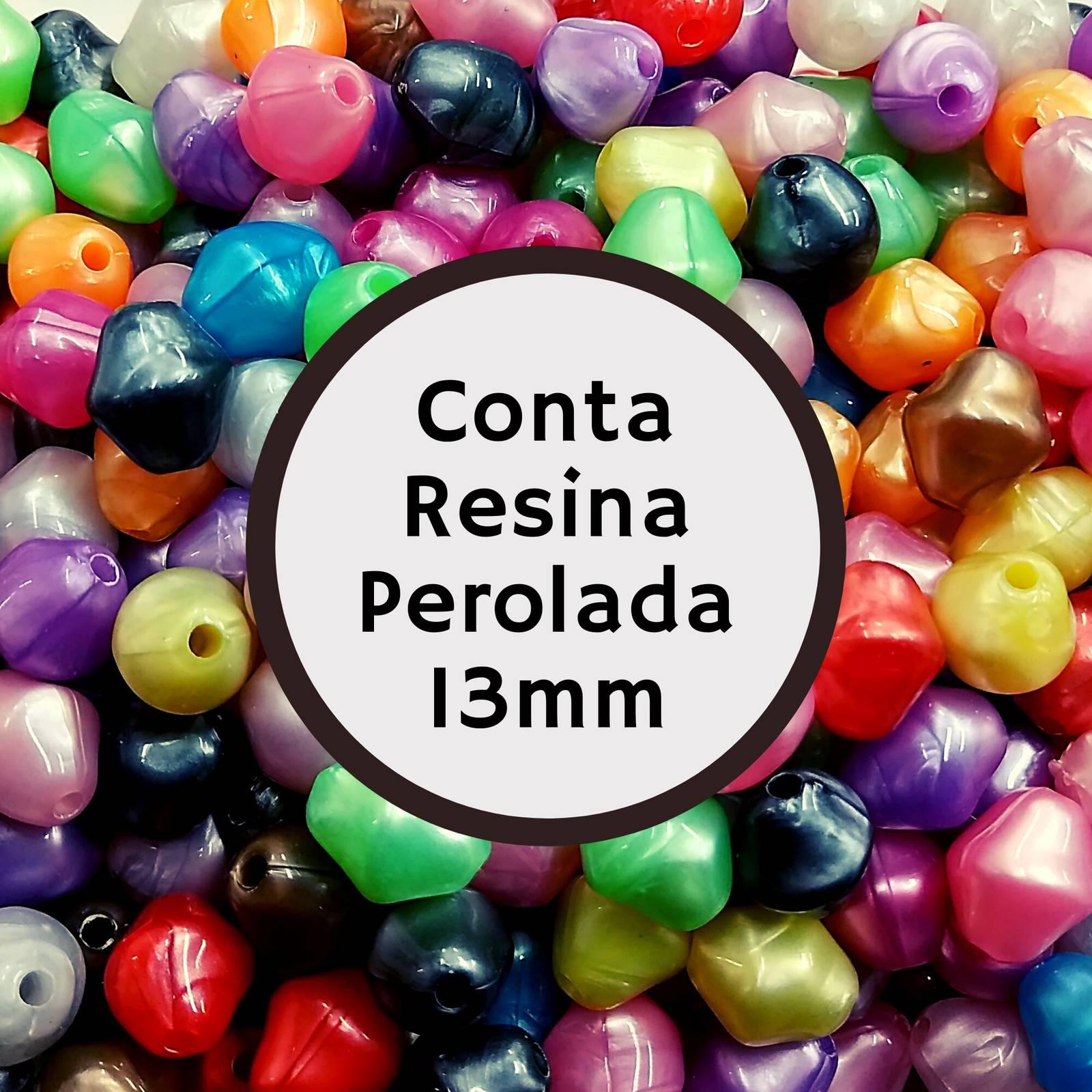 Conta Resina Perolada Leitosa AS 2947 13mm c/500g