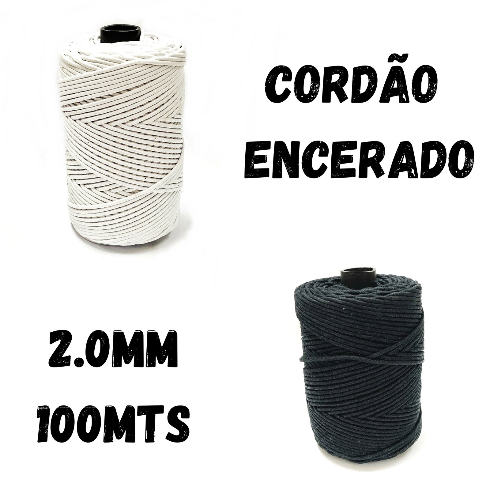 Cordão Encerado 2.0mm - 100mts