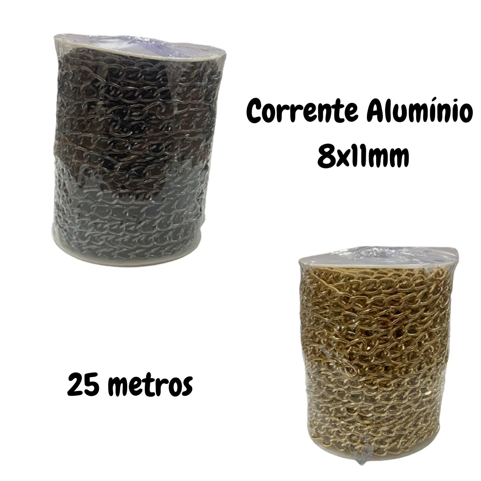 Corrente de Alumínio 8x11mm - 25 metros