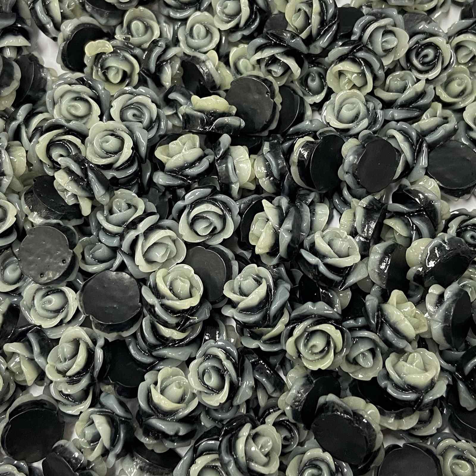 Enfeite Flor de Resina 12mm - 100 unidades