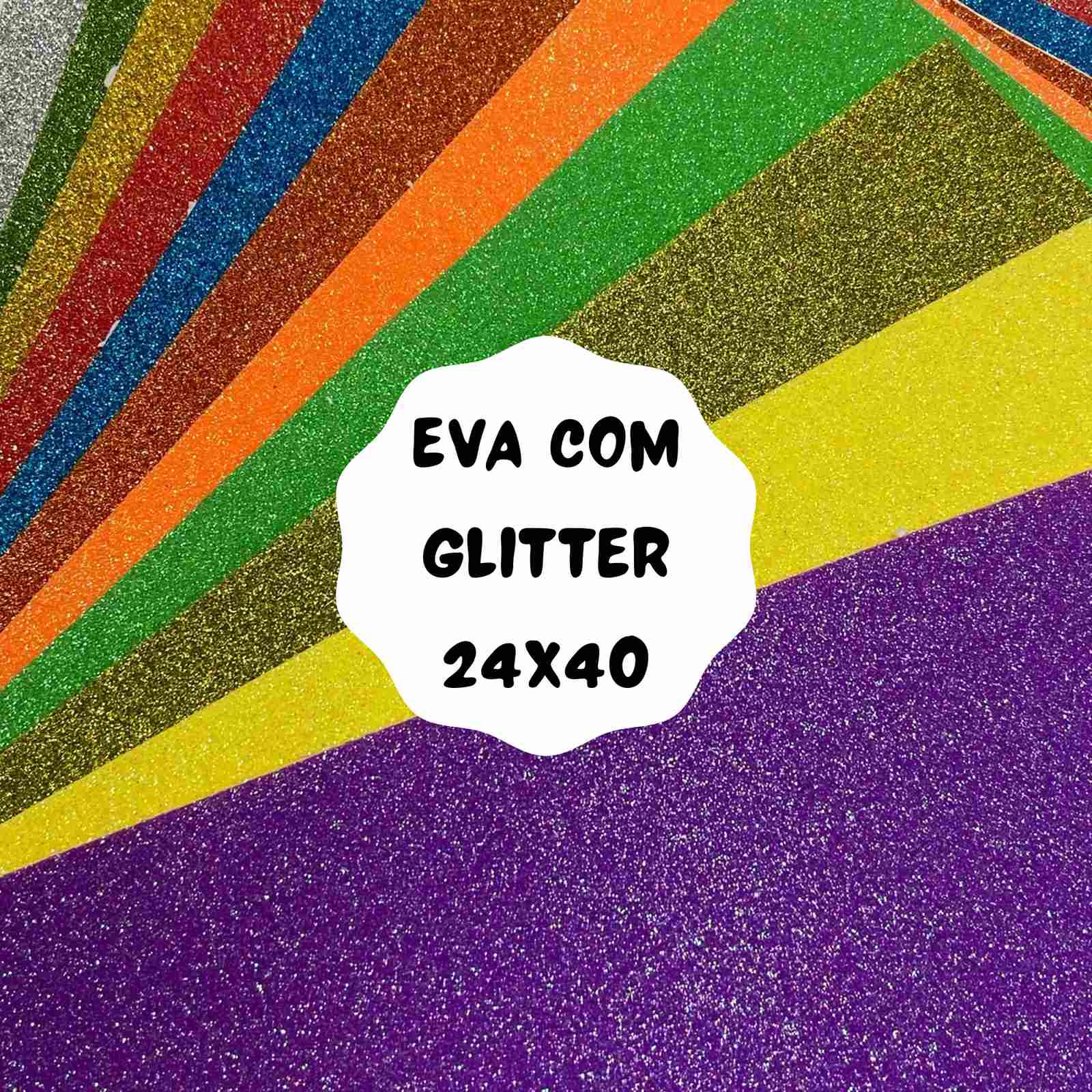 EVA com Glitter Autoadesivo - 2 folhas