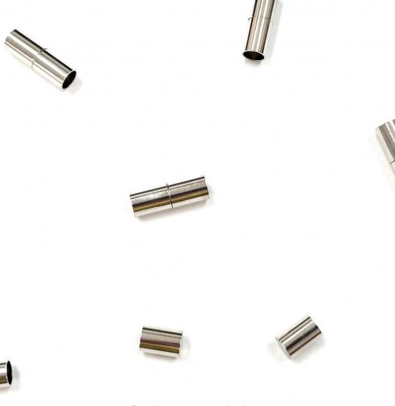 Fecho de Imã 18mm p/ Colagem de Fios - 3 unidades