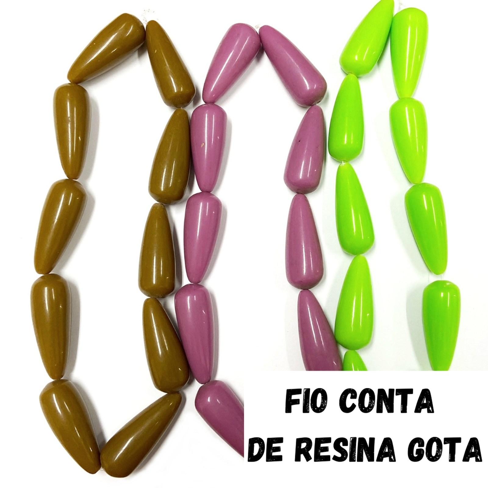 Fio Conta de Resina 20x38mm - 1 Fio