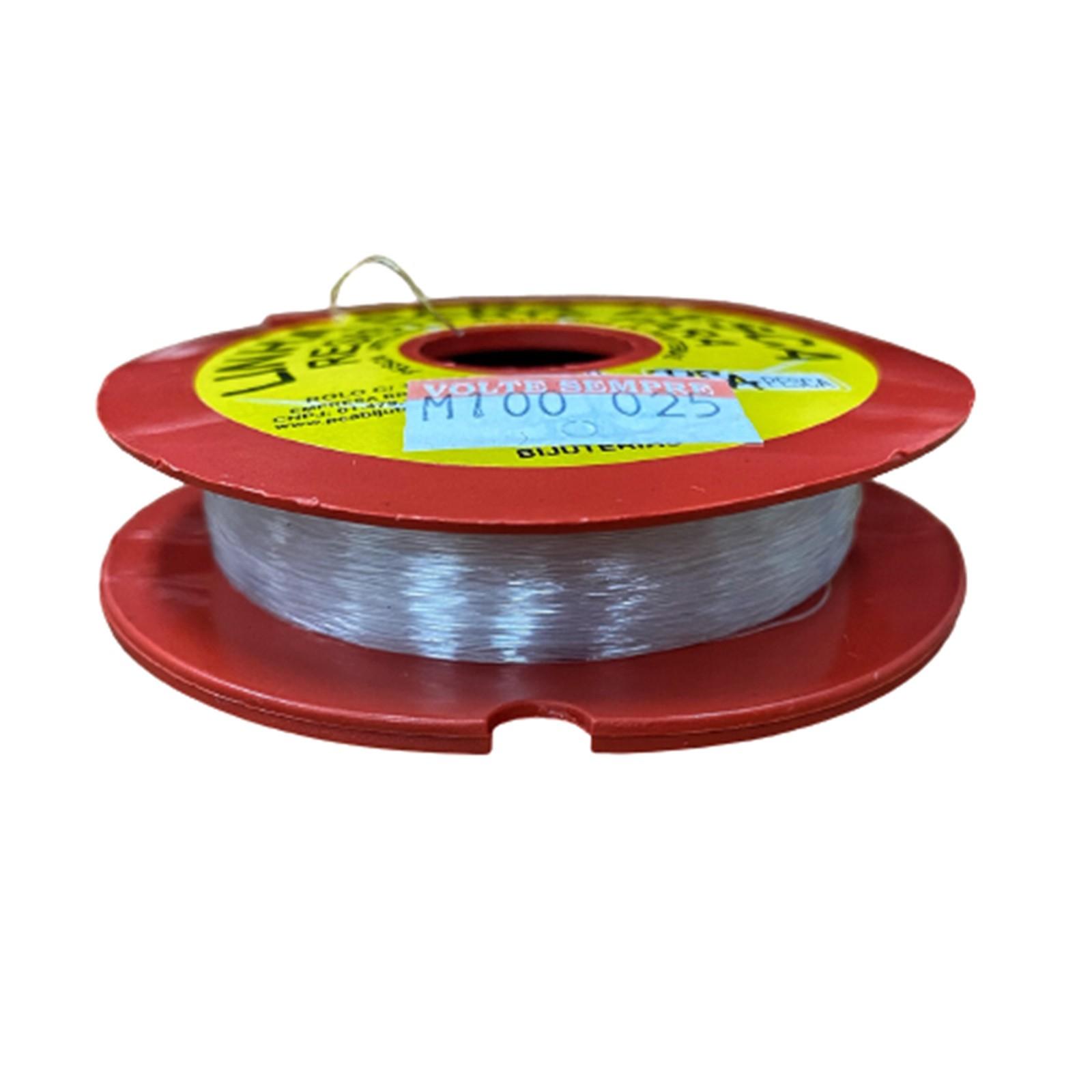Fio de Nylon - 0,25mm / 0,40mm / 0,45mm / 0,50mm - Rolo com 100 metros