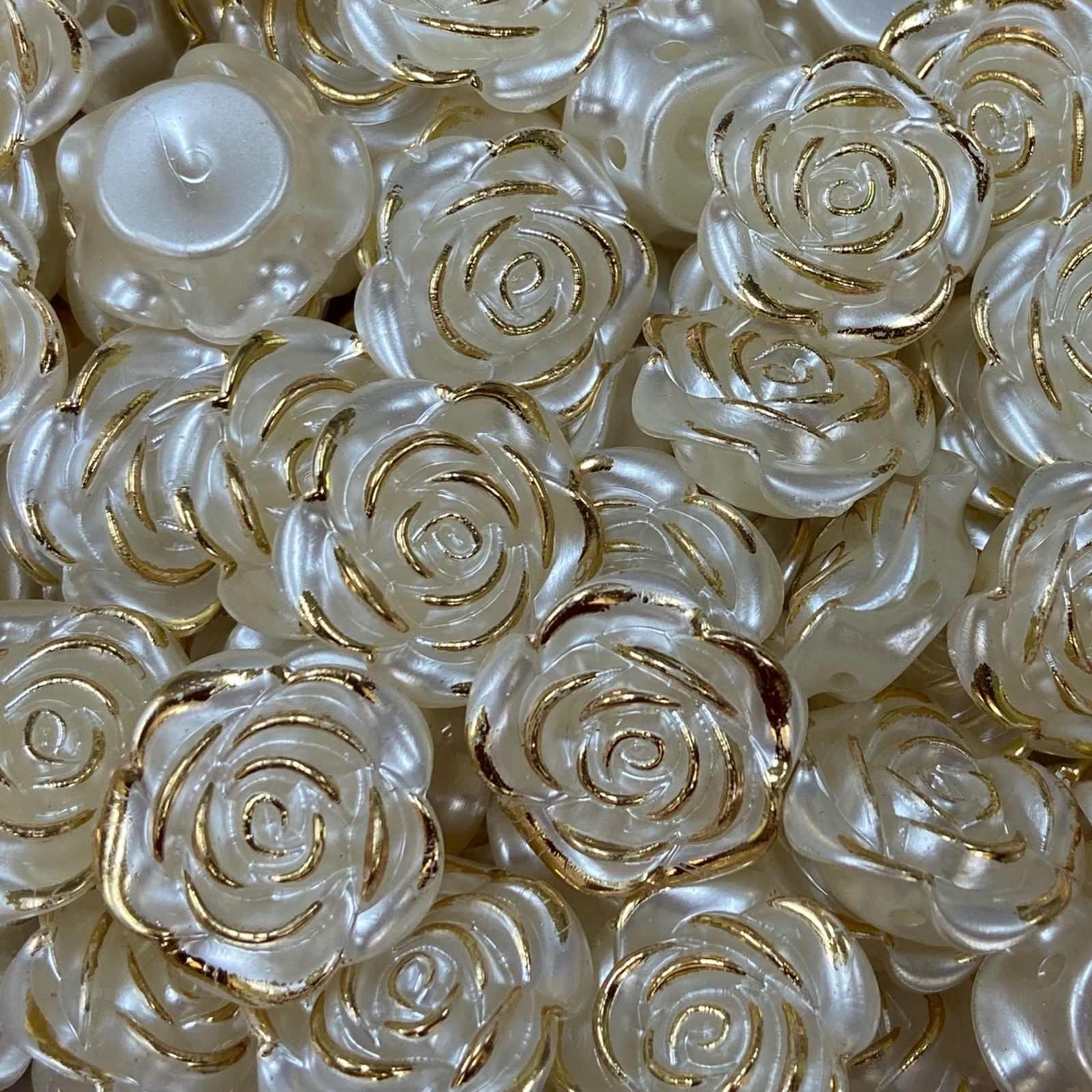 Flor de Pérola ABS 18mm Creme - 250g