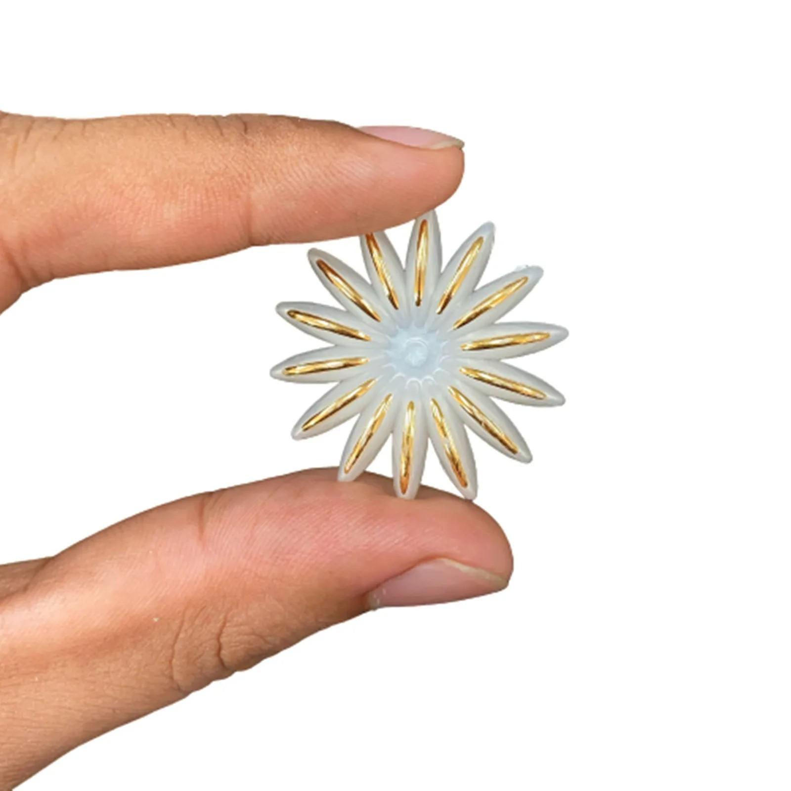 Flor de Perola ABS 35mm - 15 unidades