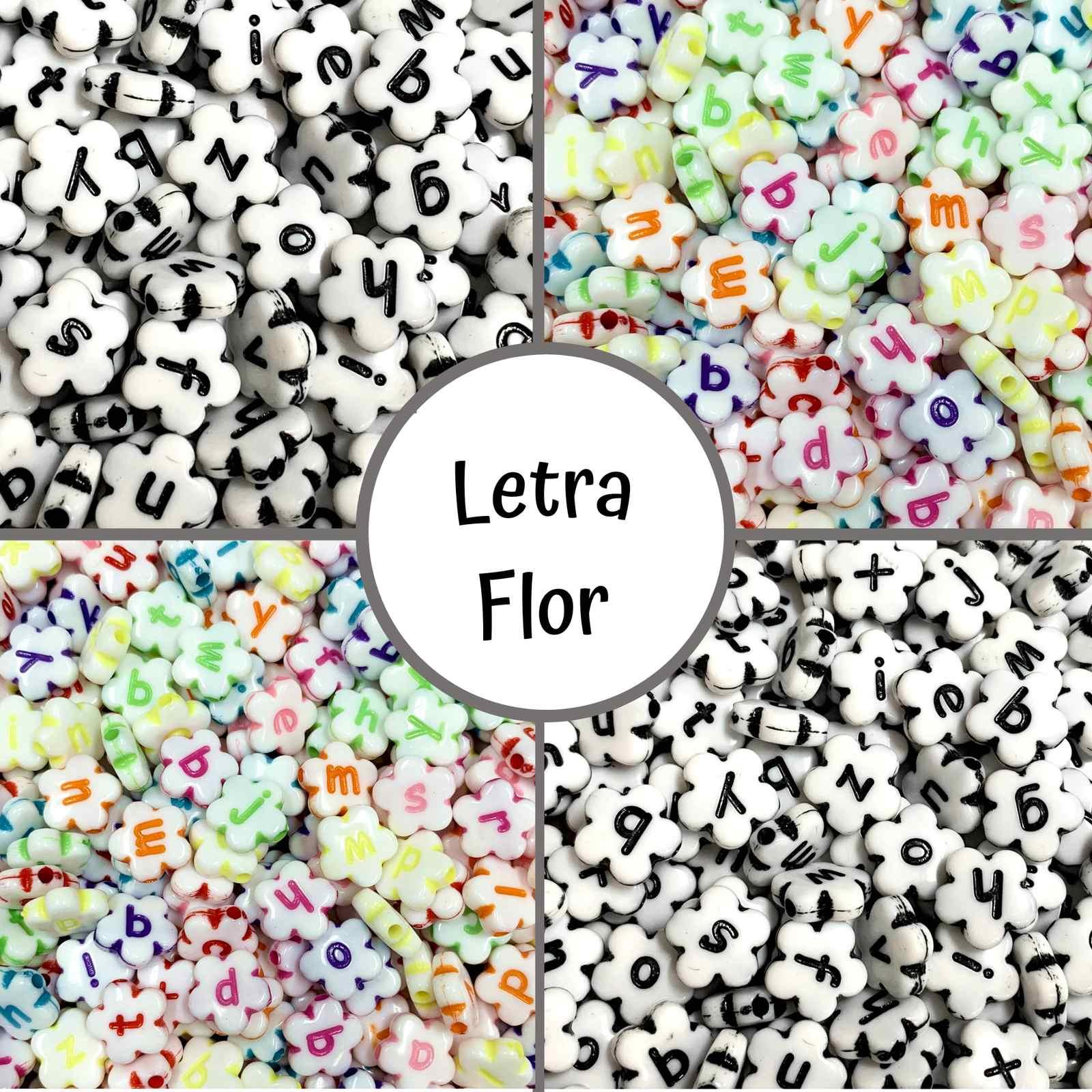 Florzinha Letrinha 10mm - Pacote c/ 60 unidades