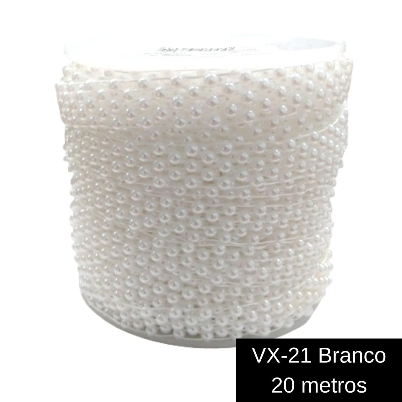 Galão Corrente / Aljofre Plástico Formato Meia Pérola