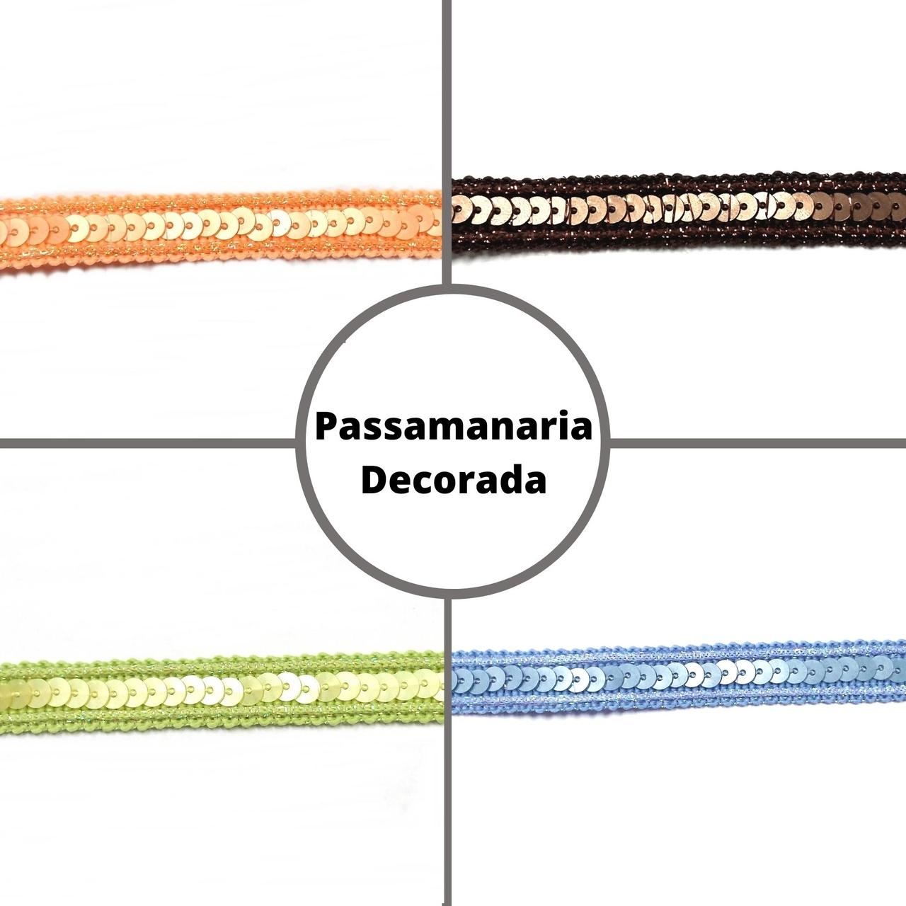 Galão Passamanaria c/ Paetê AS4382 - 15 metros