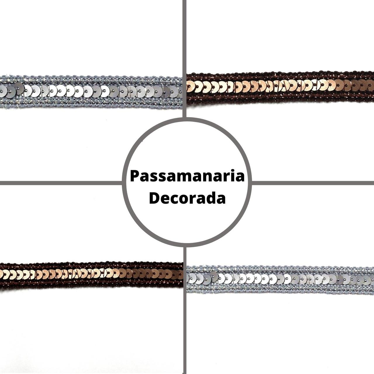 Galão Passamanaria c/ Paetê GDI-00199 - 10 metros