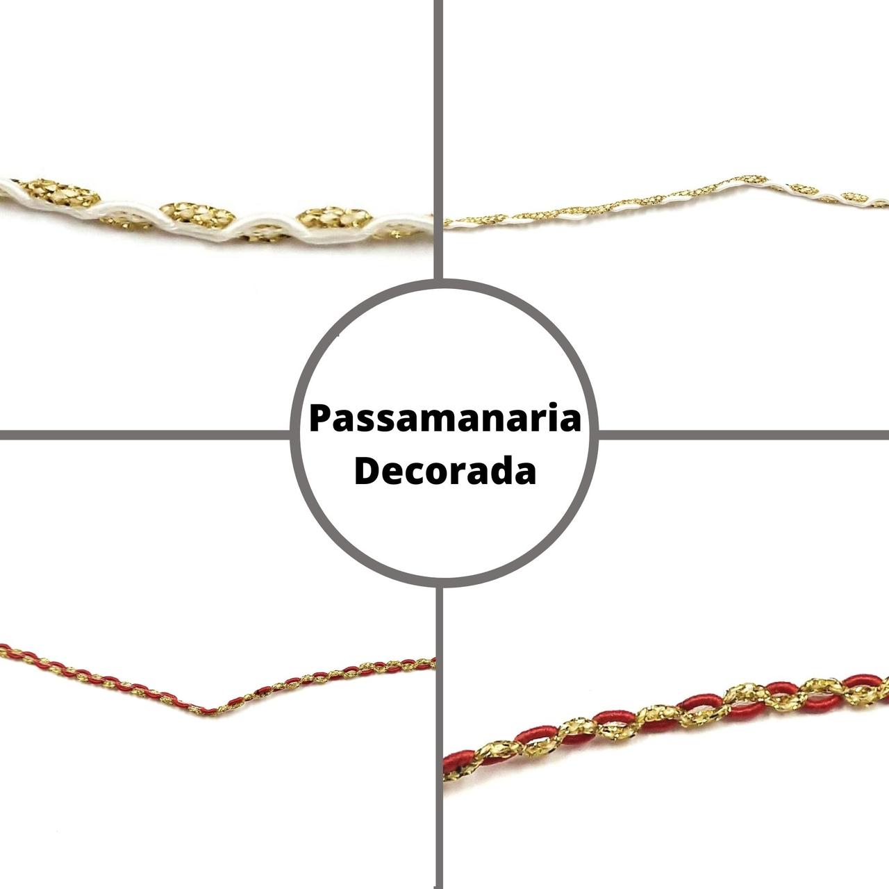 Galão Passamanaria Decorado AS3454 - 10 metros