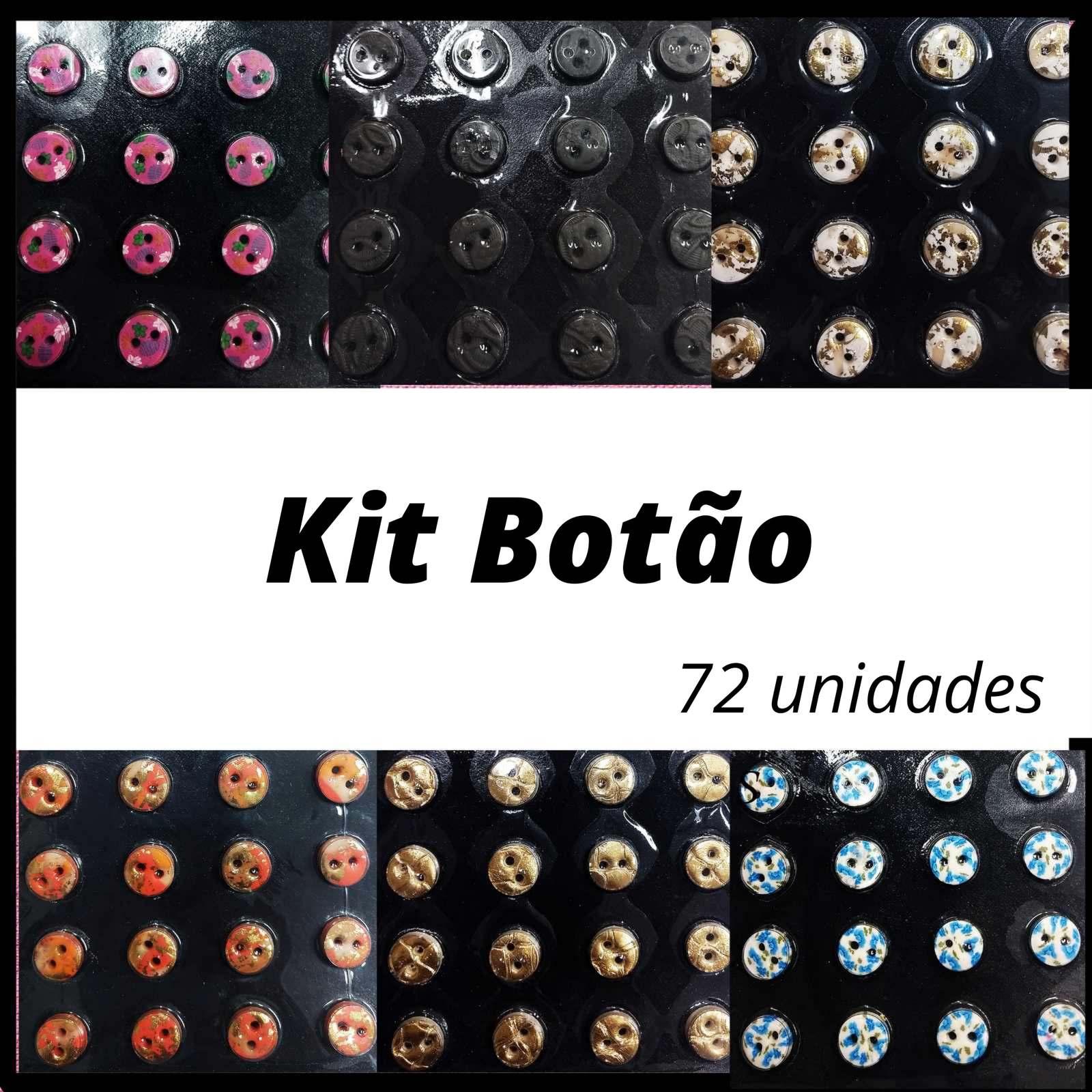Kit Botão Estampado 10mm c/72 Unidades