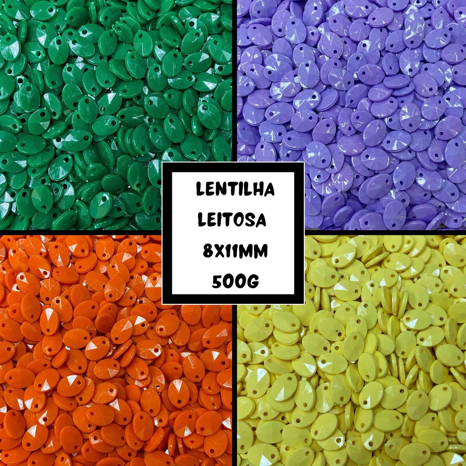 Lentilha Leitosa 8x11mm - 500g