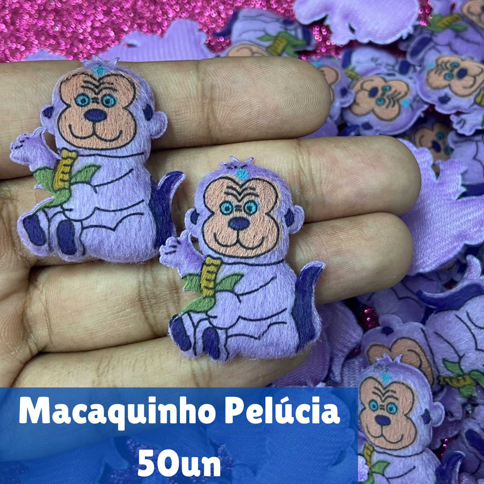 Macaquinho Pelúcia - 50 unidades