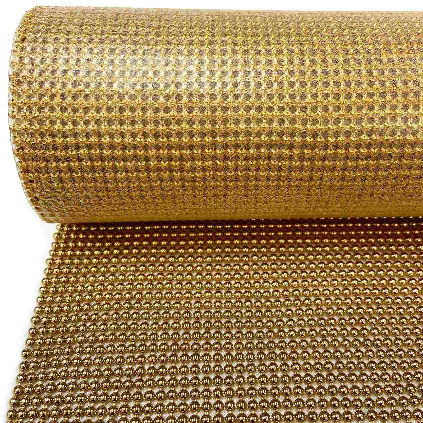 Manta com Pérola 0,45x1,20 - Dourada