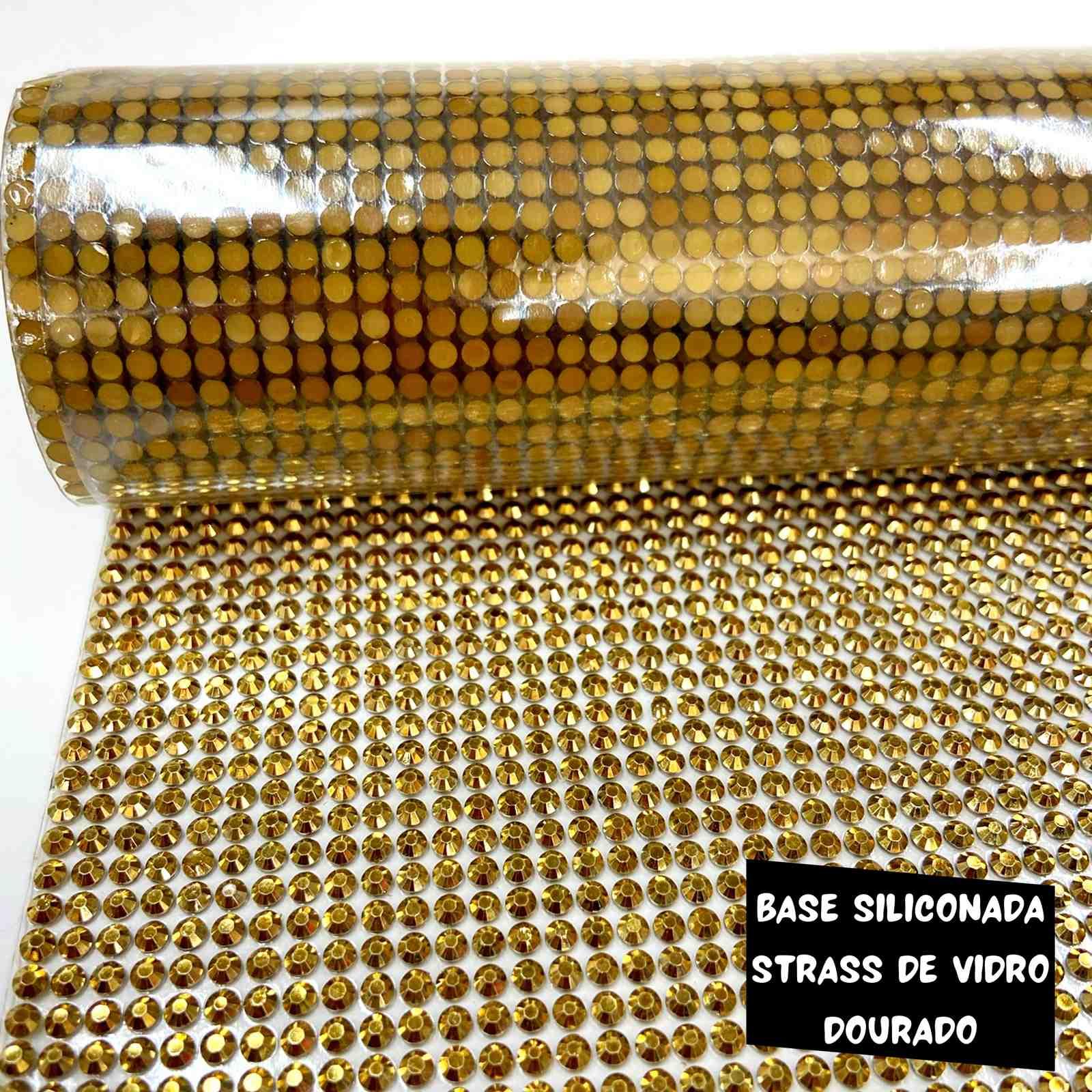 Manta de Strass CLR 1,2m x 40cm -  Gold