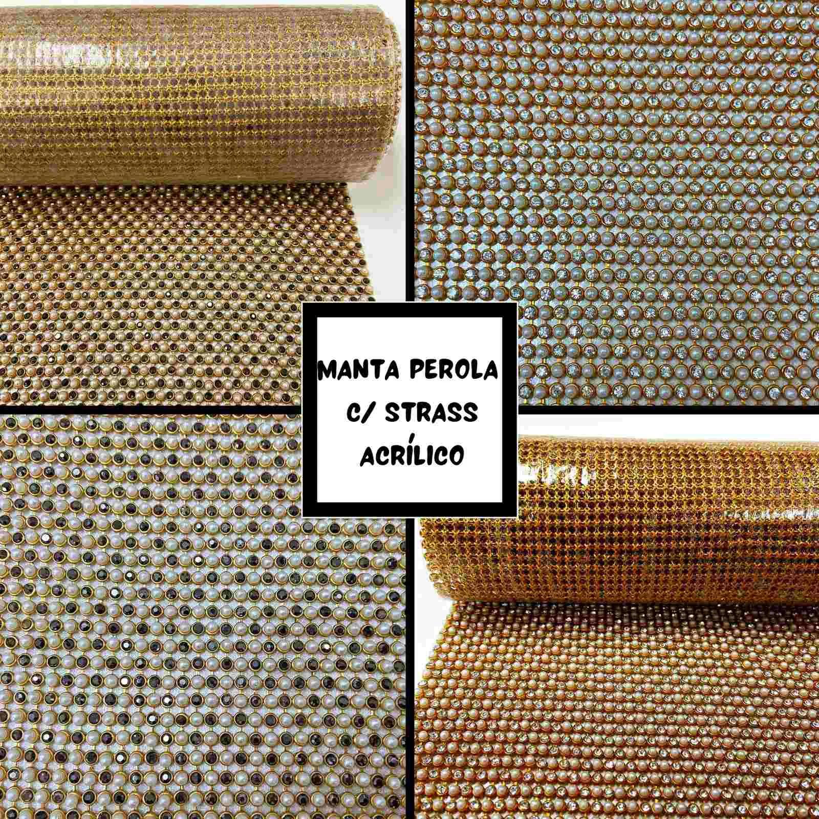 Manta Perola com Strass 0,45x1,20