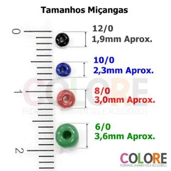 Miçanga 10/0 Jablonex C/50G-Cores Mistas