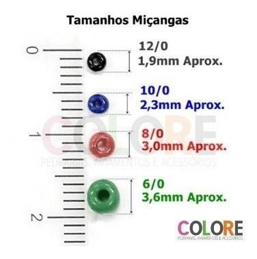 Miçanga 12/0 Leitosa Perolada - 500g