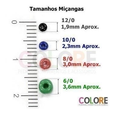 Miçanga 12/0 Miolo Prata -  500g