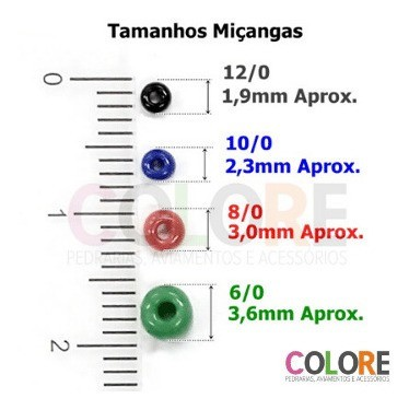 Miçanga 12/0 Transparente - 500g