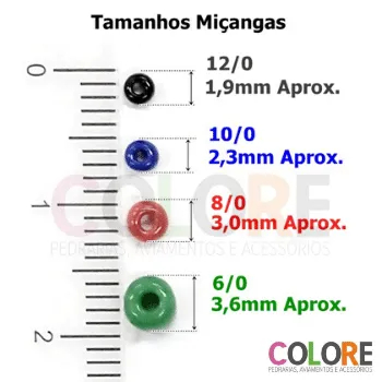 Miçanga 12/0 Transparente Lustrosa - 500g