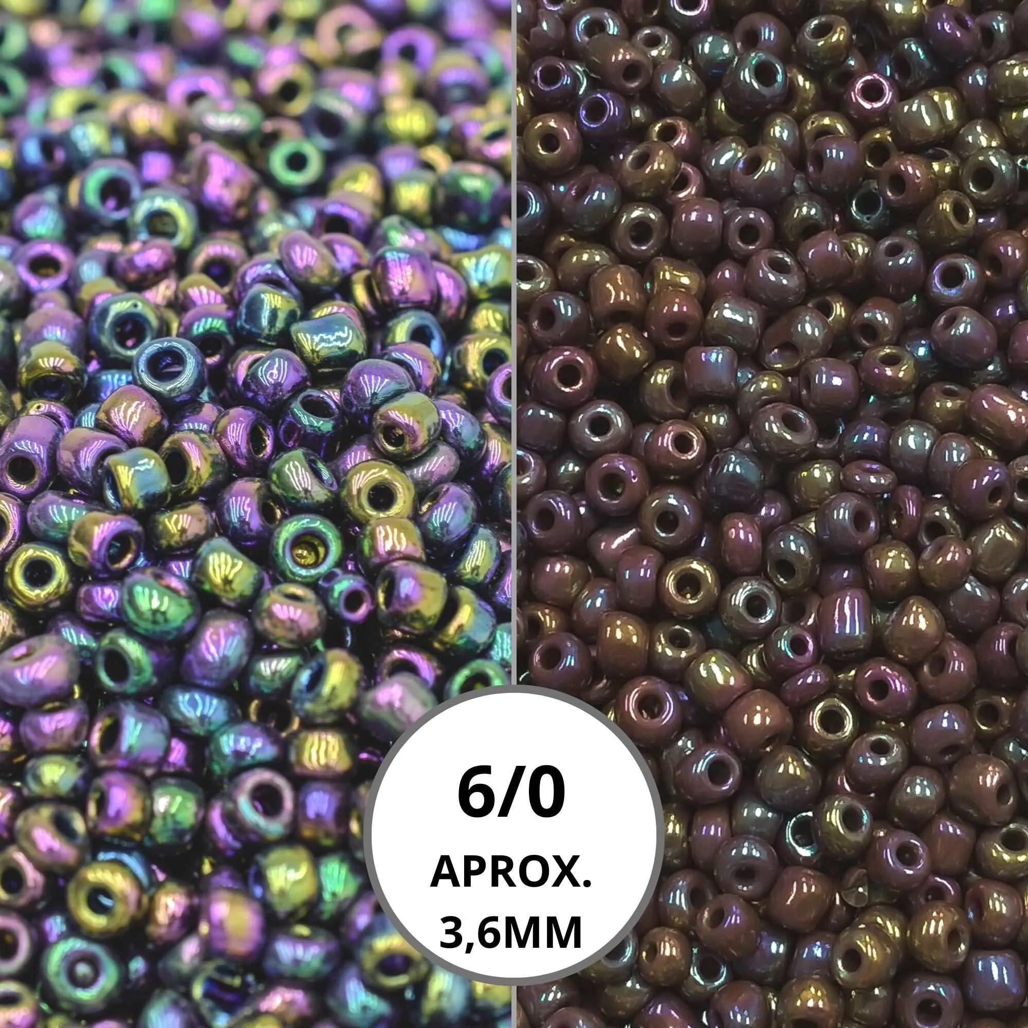 Miçanga 6/0 - Boreal Leitosa 500g