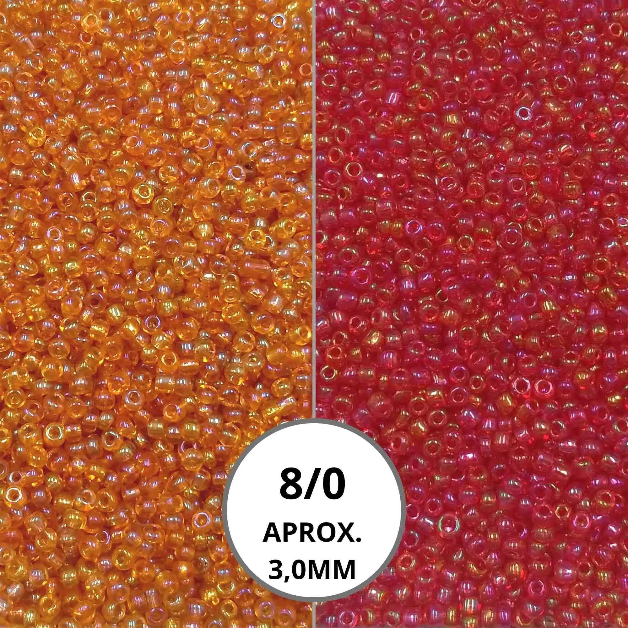 Miçanga 8/0 Transparente AB- 500Gr