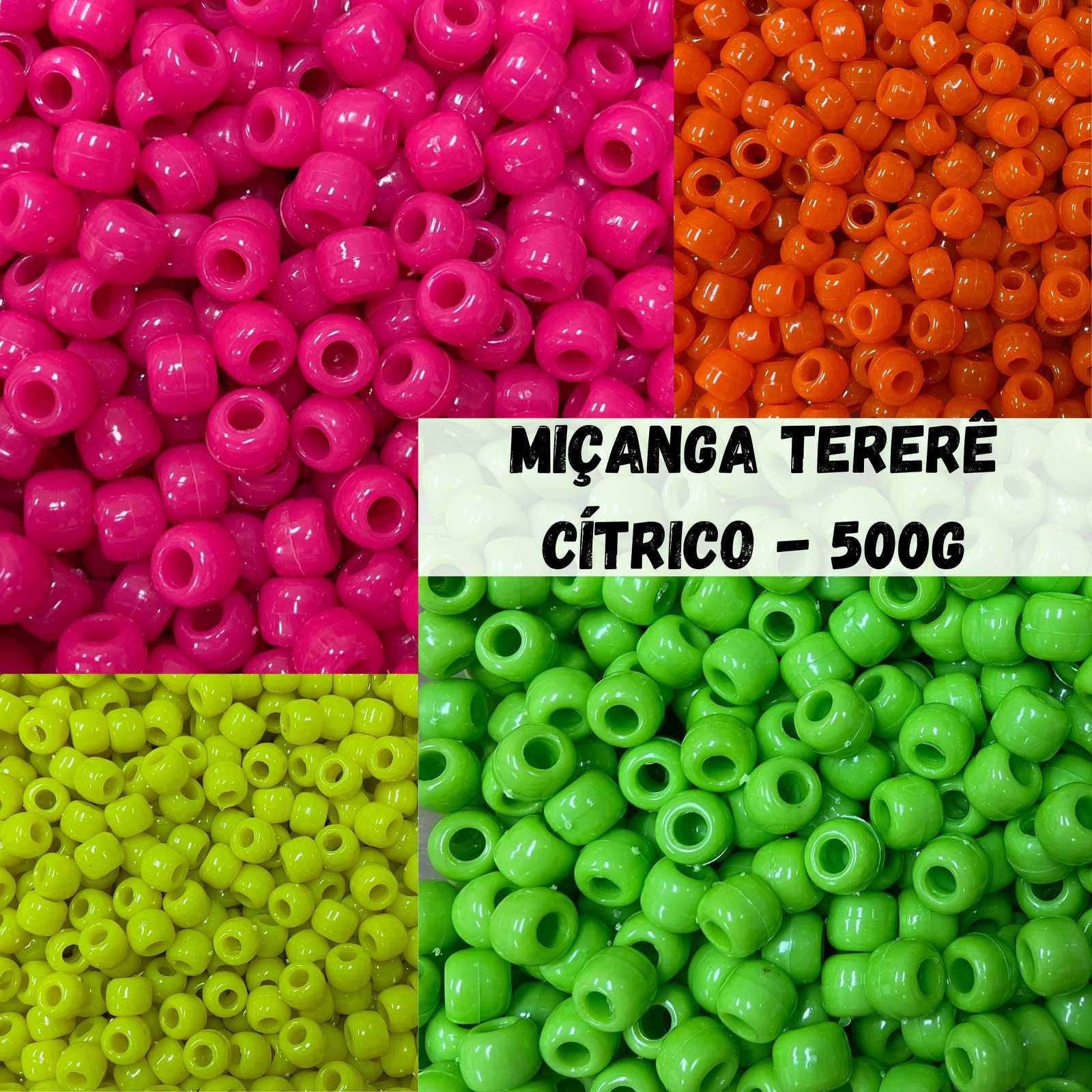 Miçanga Tererê Cítrico 10mm - 500g