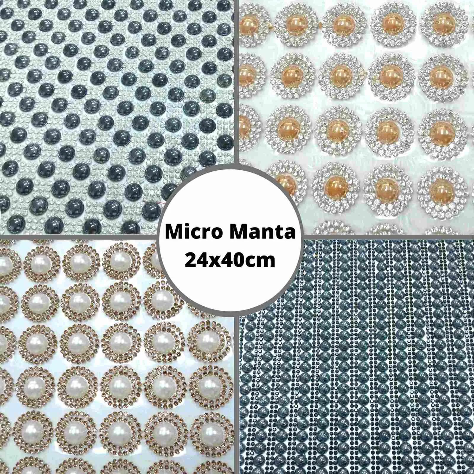 Micro Manta c/ Meia Pérola - Tamanho 24x40cm - 1 unidade